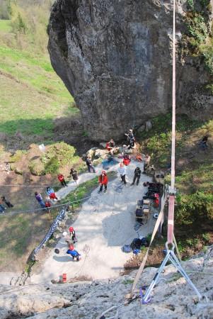 Saisonstart im Kletterkompetenzzentrum Camp Sibley